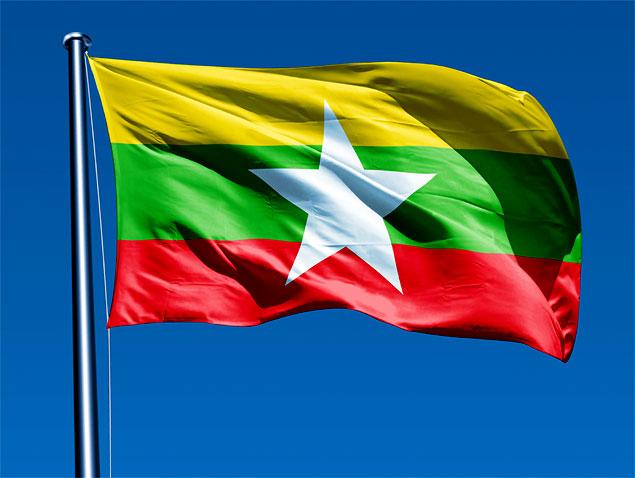 12 Curiosidades de Myanmar (Bandera de Myanmar)