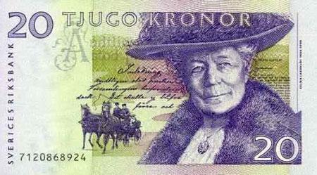 Moneda y cambio de Suecia (20 Kr)