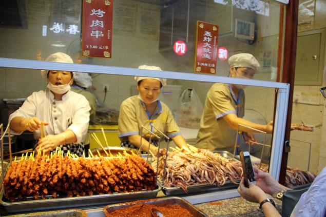 Placer gastronómico en Jinli Street