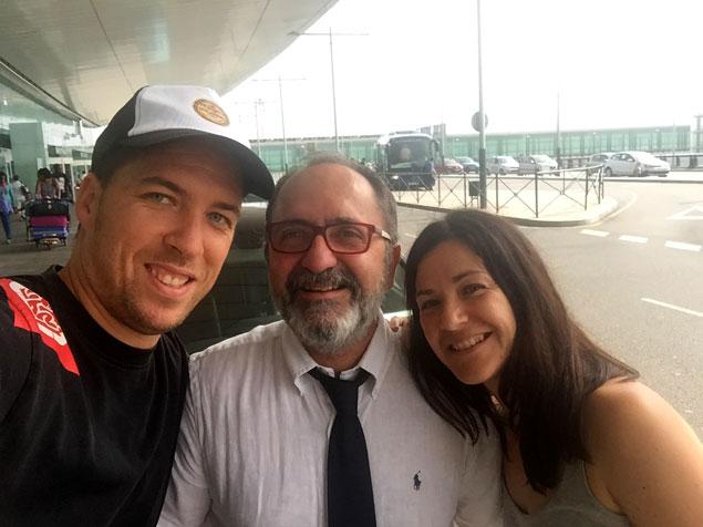 Con nuestro conductor Sr Josep , que nos hizo sentir genial!