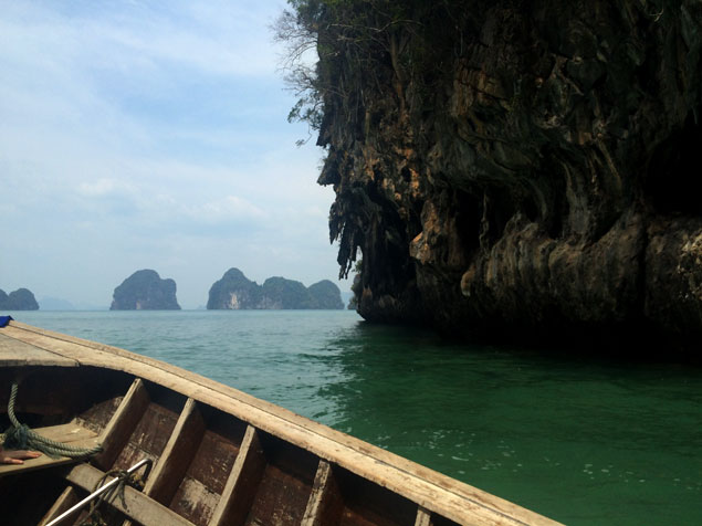 Saliendo de la Hong Island Lagoon