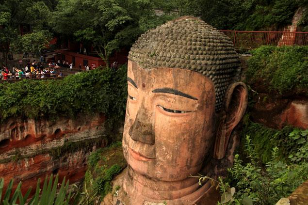 Rostro de Maitreya (Gran Buda de Leshan) Ruta por Sichuan