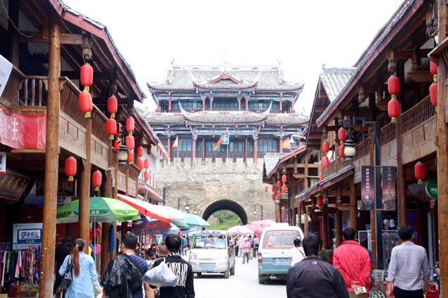 Paseando por Shunjiang Lu (ruta por Sichuan)