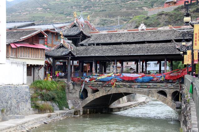 Uno de los puentes recubiertos