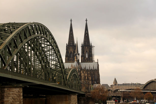 Vistas del Dom de Colonia desde el Puente