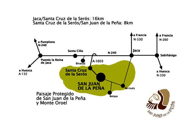 Como llegar a San Juan de la Peña