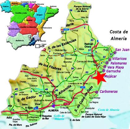 Mojácar Almería Información útil Y Mapa