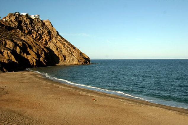 Una de las playas de Mojácar