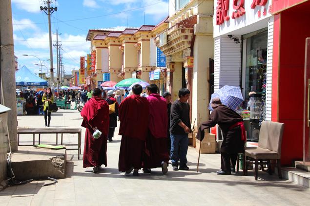 Influjo budista en las calles