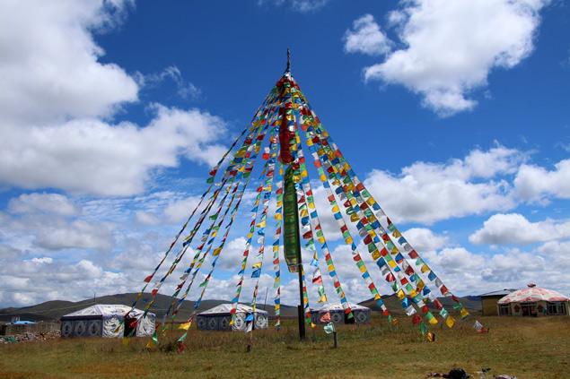 Uno de los campamentos nómadas de Zoige