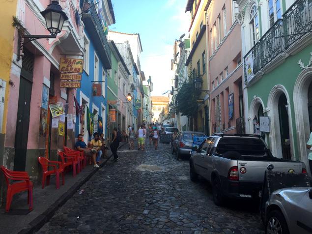 Calles coloridas en el Pelourinho