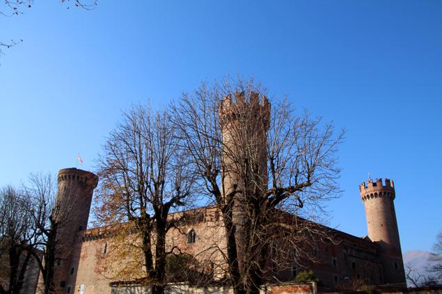Castillo de Ivrea con sus tres torres