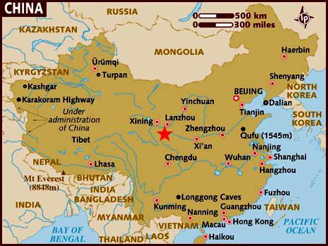 Ubicación de Xiahe
