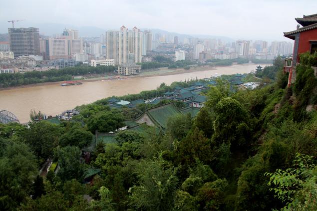 Vistas del río Huang He , desde la colina
