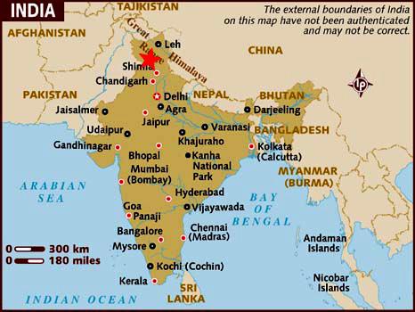 Localización Dharamsala