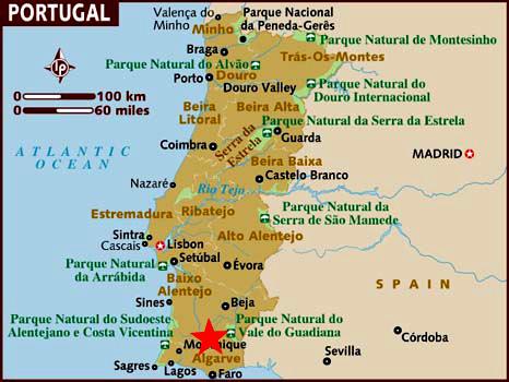 algarve mapa portugal Algarve (Portugal) Información de interés y mapa algarve mapa portugal