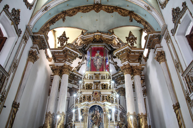 Interior de la iglesia do Bonfim