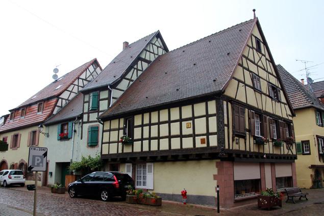 Construcciones típicas de Alsacia