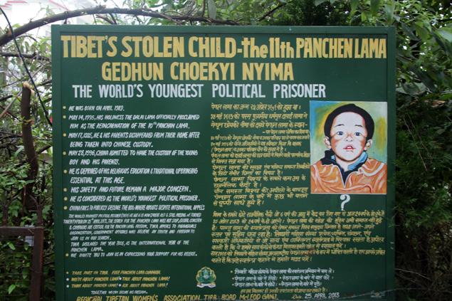 Reivindicaciones tibetanas den Mcleod Ganj