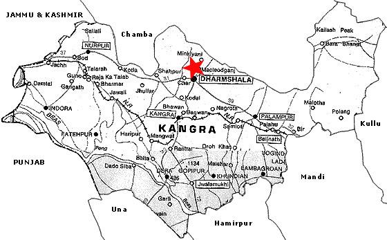 Localización Mcleod Ganj