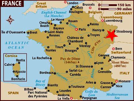 Localización Alsacia