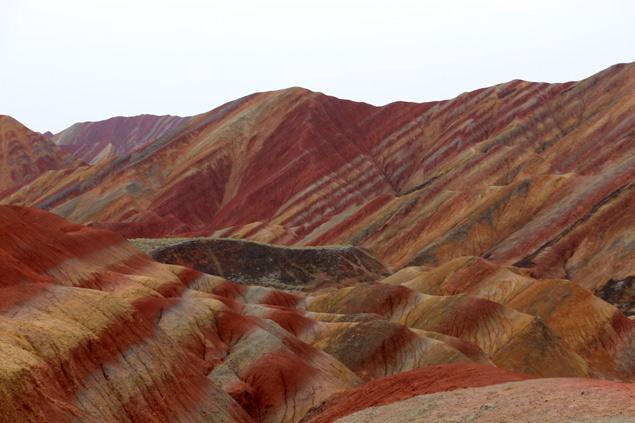 Las montañas de colores de Danxia