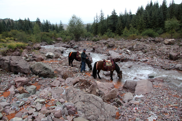 Pasear a caballo por un entorno único
