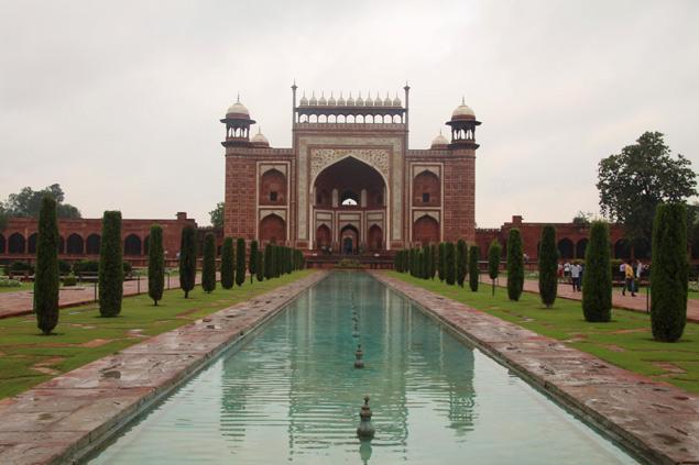 Parte posterior al Taj Mahal
