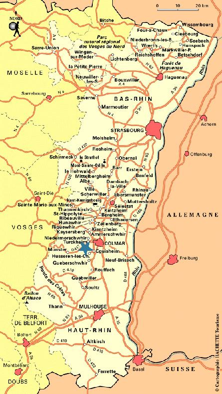 Ubicación Turckheim en Alsacia