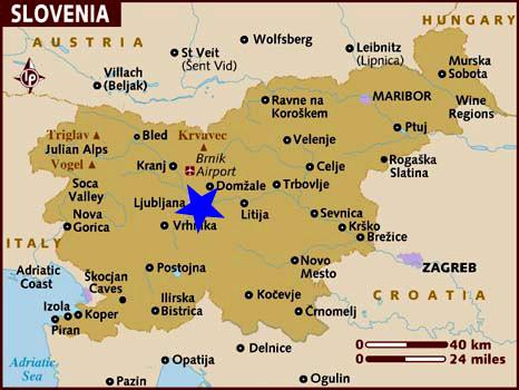 Ubicación Ljubljana