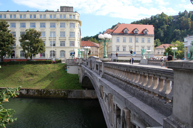 Vistas del puente mas famoso de Ljubljana