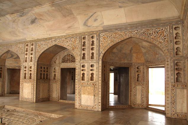 Palacio de cristal del Fuerte de Agra