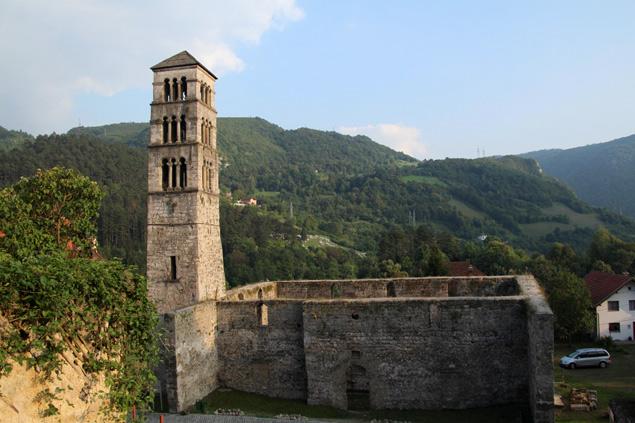 Restos de la antigua iglesia de Jajce