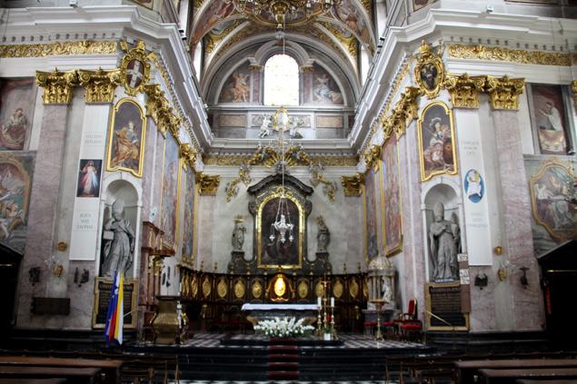 Interior de la Catedral de San Nicolás