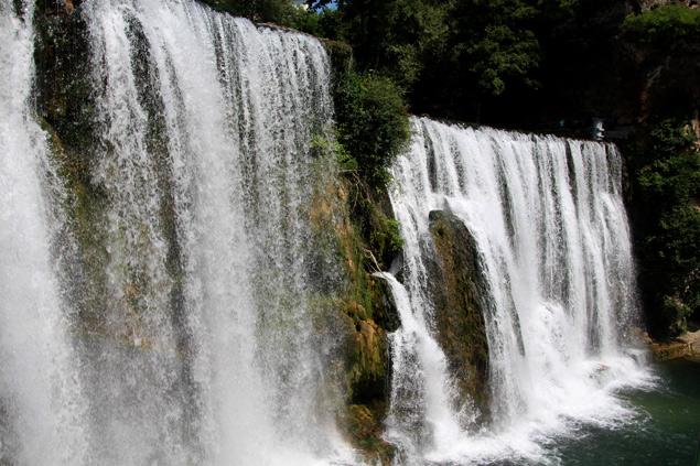 La impresionante cascada de Jajce