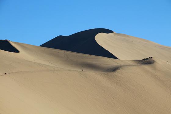 El paisaje espectacular de las dunas de Dunhuang