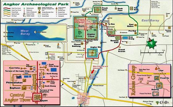 Grupo de Roluos localización