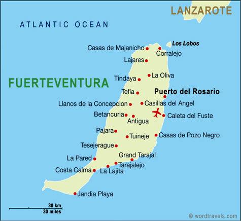 fuerteventura mapa Fuerteventura (Islas Canarias) Información y mapa fuerteventura mapa