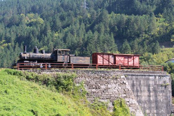 Locomotora al lado del río Neretva