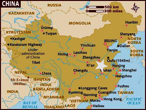 Ubicación de Luoyang