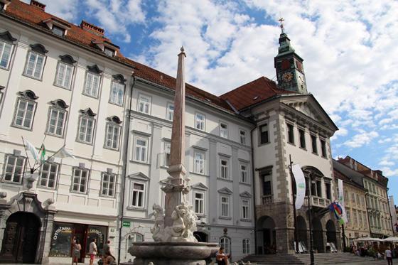 Ayuntamiento de Ljubljana y la Fuente de Robba