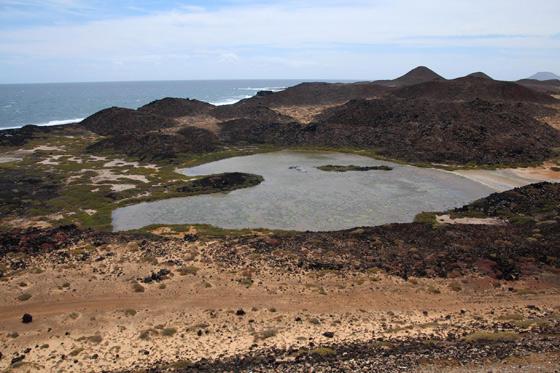 Laguna en la Isla de Lobos