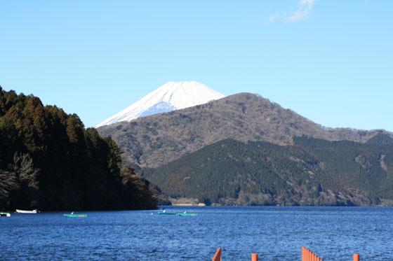 Vistas del Monte Fuji desde el lago