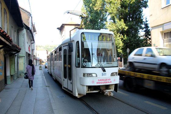 Tranvía en Sarajevo