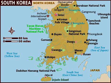 Corea del Sur Mapa