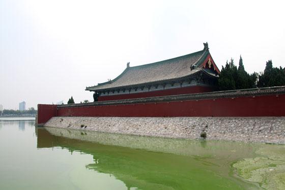 Vistas del templo desde el lago