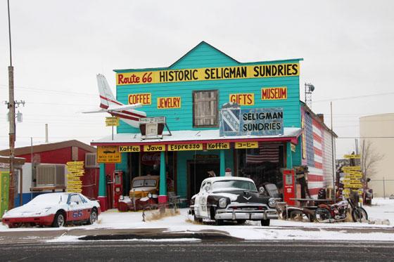 Vistas de Seligman , un histórico en la Ruta 66
