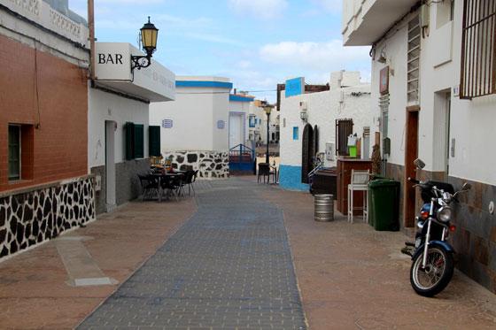 Calles del centro antiguo de Corralejo