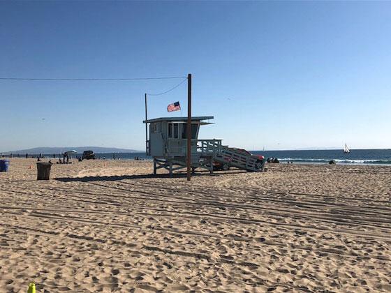 Los famosos puestos de vigilancia de los Vigilantes de la Playa en Santa Mónica