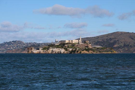 Vistas de la Cárcel de Alcatraz desde Fisherman Warf (Ruta por la Costa Oeste)